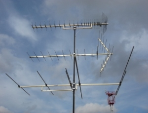 Эфирный комплекс из трех антенн - трехуровневая антенна